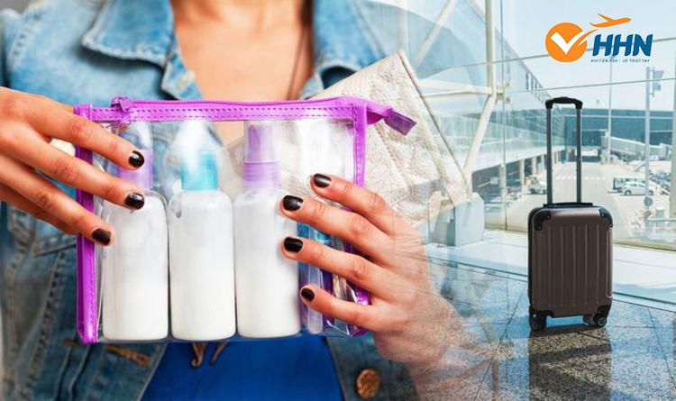Quy định về mang hành lý xách tay chất lỏng lên máy bay