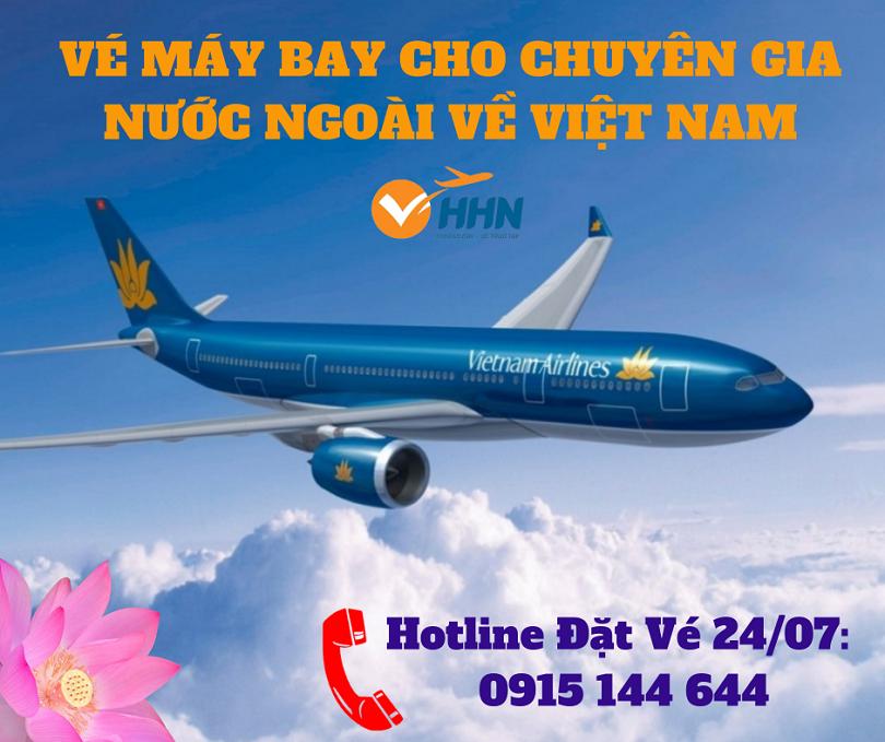 vé máy bay cho chuyên gia tháng 04/2021