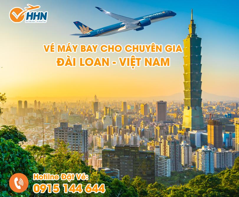 vé máy bay cho chuyên gia Đài Loan