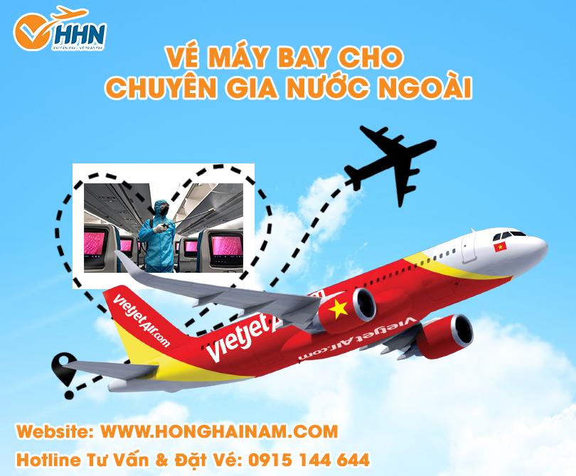 đặt vé máy bay chuyên gia đến Việt Nam